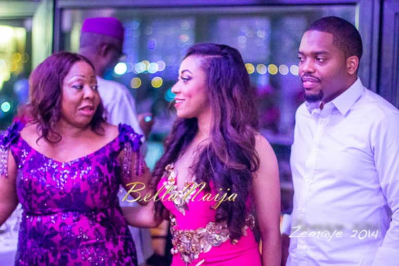 Senator Ita Giwa Daughters Wedding Guests in NHN Couture Asoebi