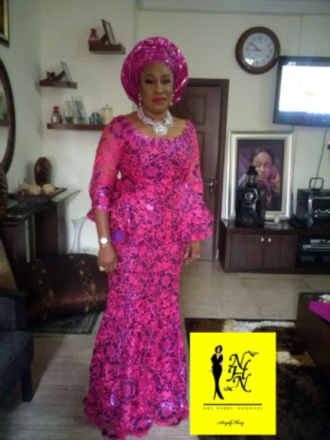 Senator Ita Giwa Daughters Wedding Guests in NHN Couture Asoebi6