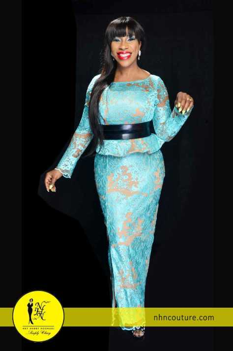 Blue and Nude Skirt and Blouse by NHN Couture 2