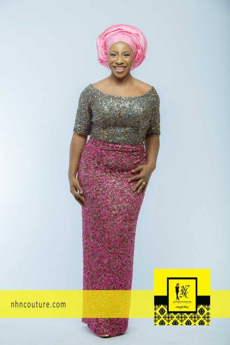 NHN Couture Asoebi Style in Pink and Grey