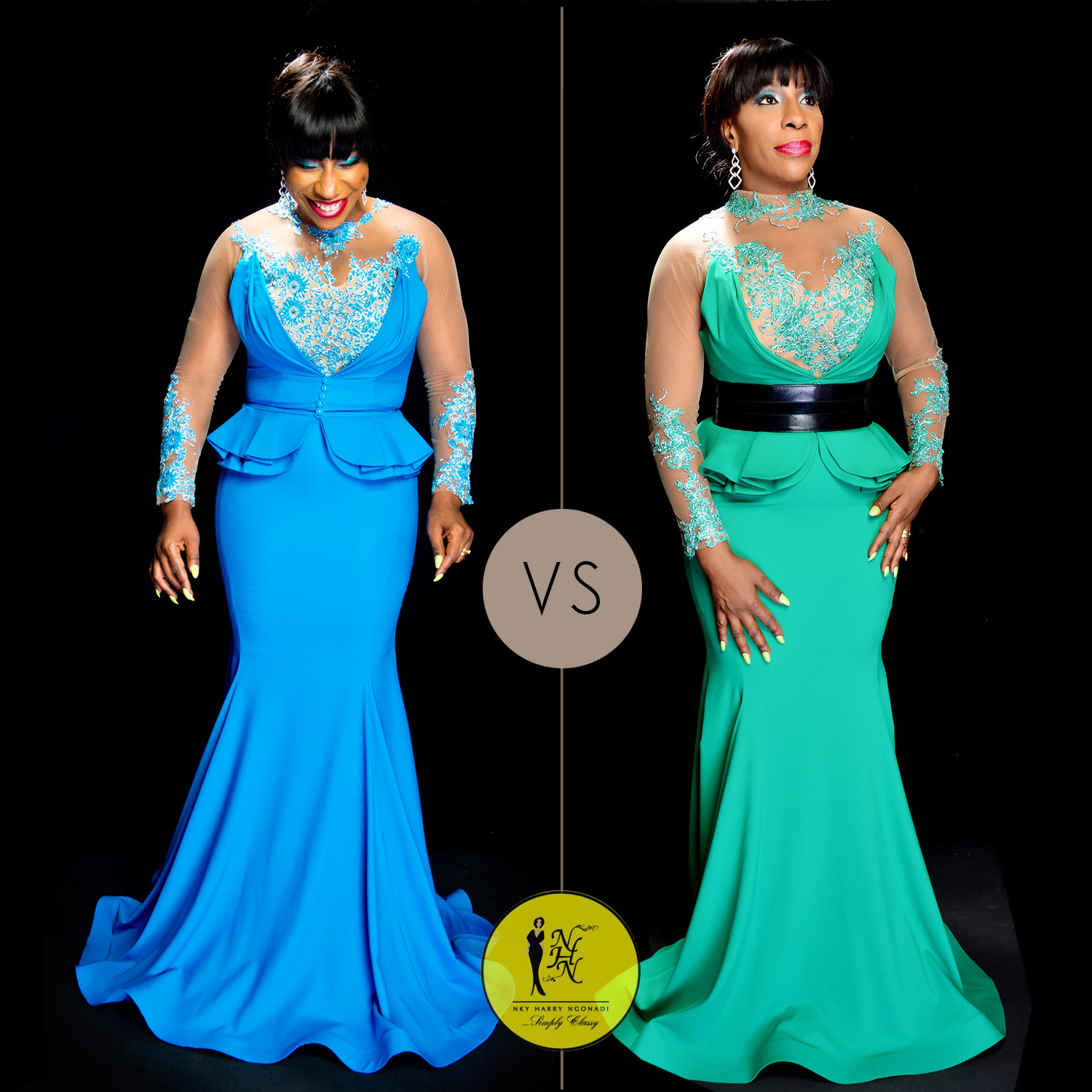 NHN-Couture-Fouad-Sarkis-Collection-Nigeria-Blue-and-Green-Evening-Gown