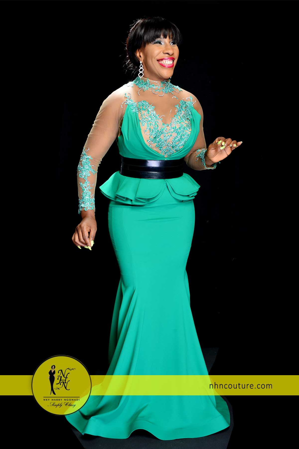 NHN-Couture-in-Fouad-Sarkis-Green-Evening-Gown-1