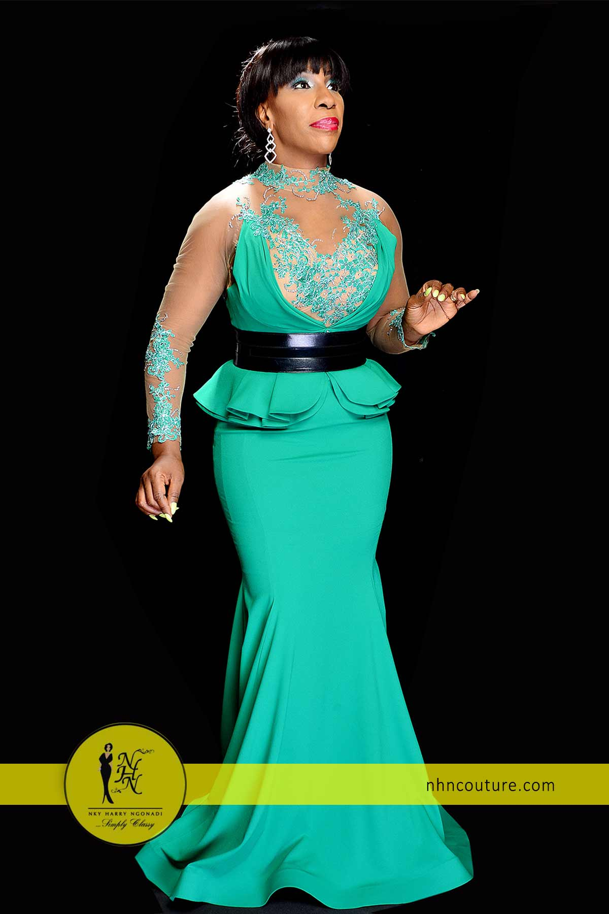 NHN-Couture-in-Fouad-Sarkis-Green-Evening-Gown-2