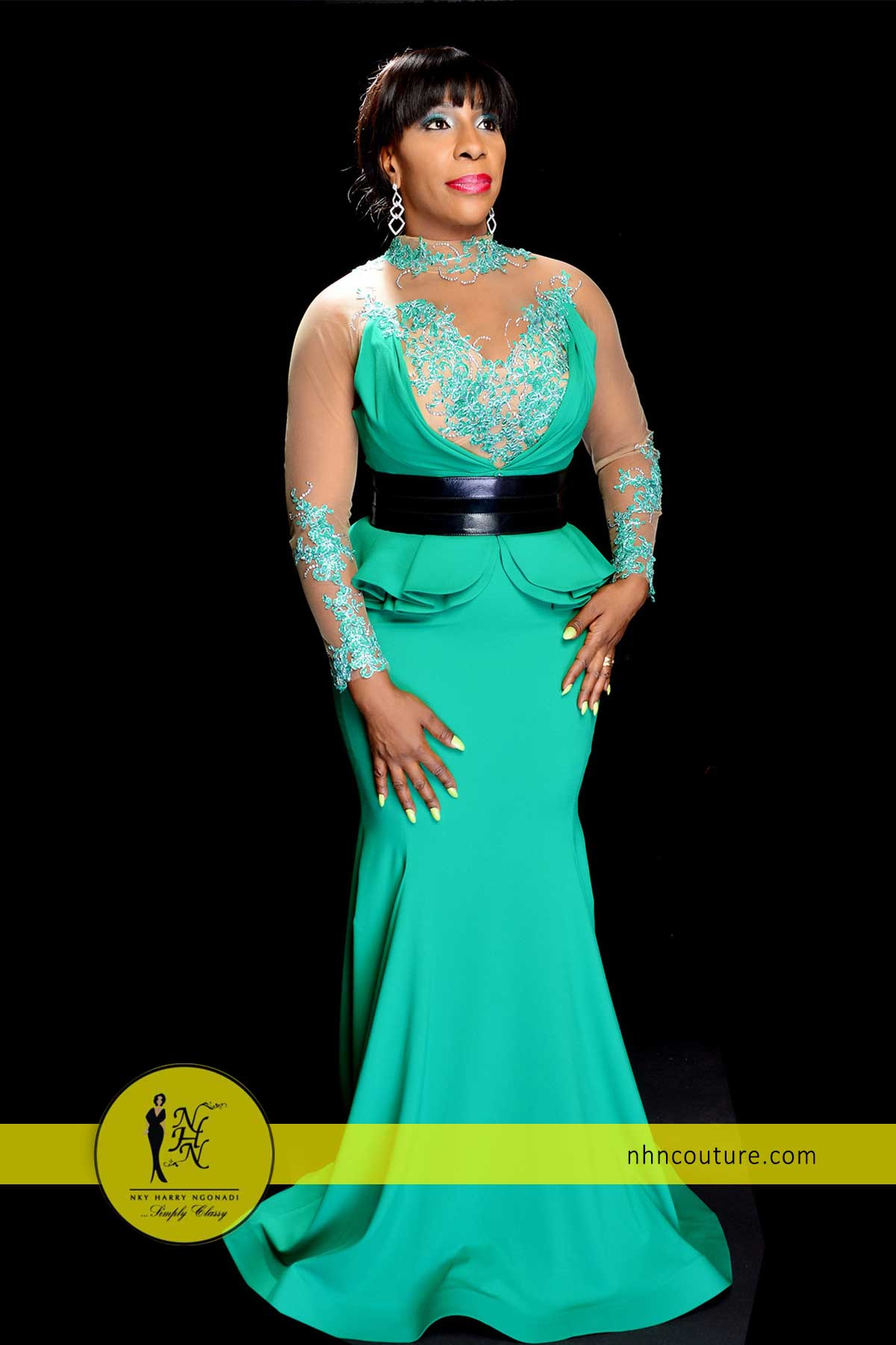 NHN-Couture-in-Fouad-Sarkis-Green-Evening-Gown-3