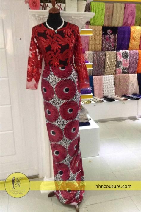NHN-Ready-to-wear_Asoebi_Nigerian-Traditional-Attire_Red-Asoebi_Lace-and-Ankara_2