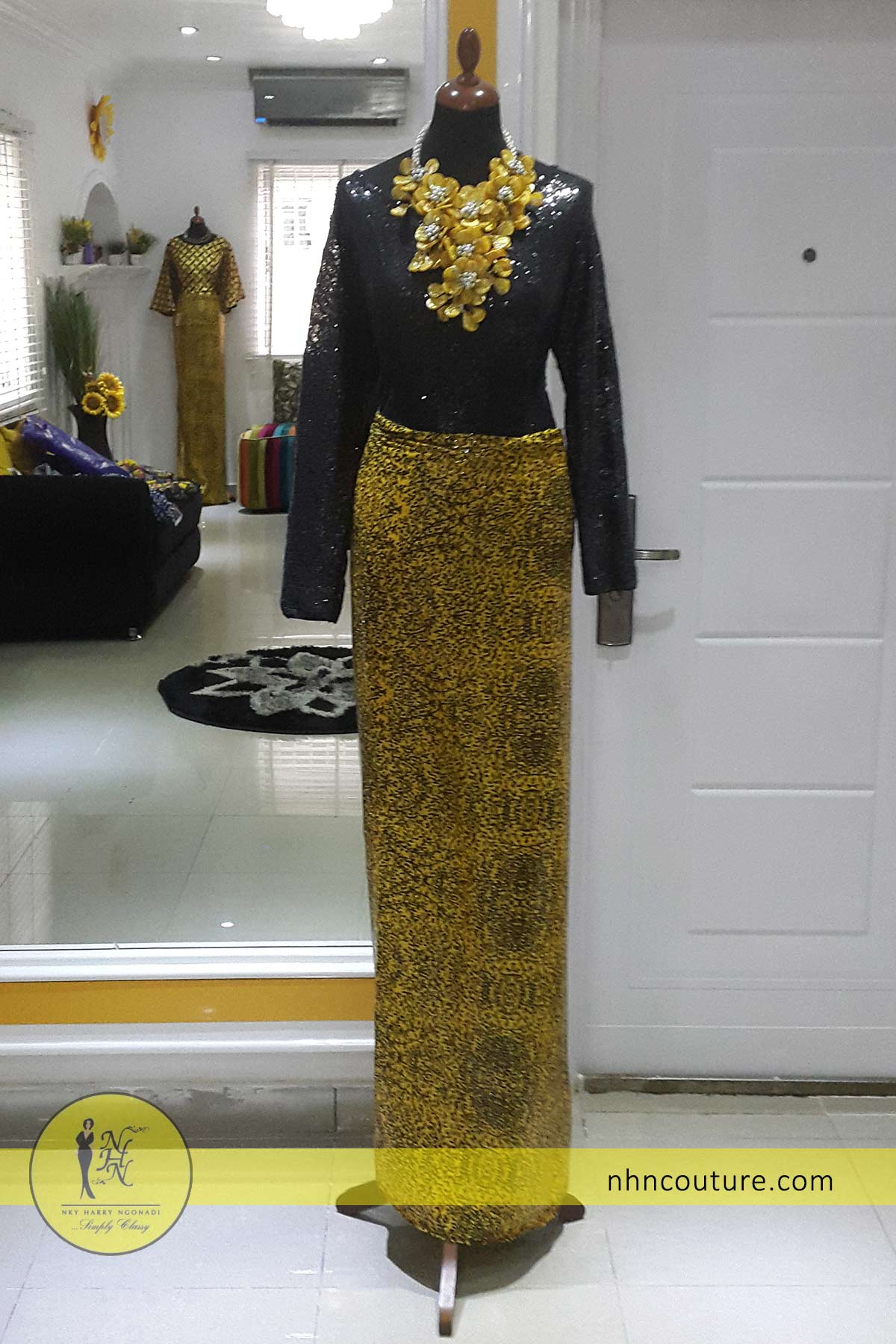 NHN_fitted-iro-and-buba_yellow-and-black_asoebi