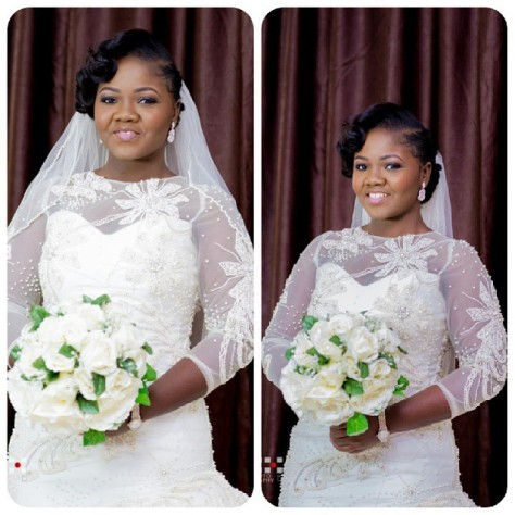Fabric from NHN Couture. Wedding gown sewn by the bride, Tomilola of Tee Threads d'ALMEIDA