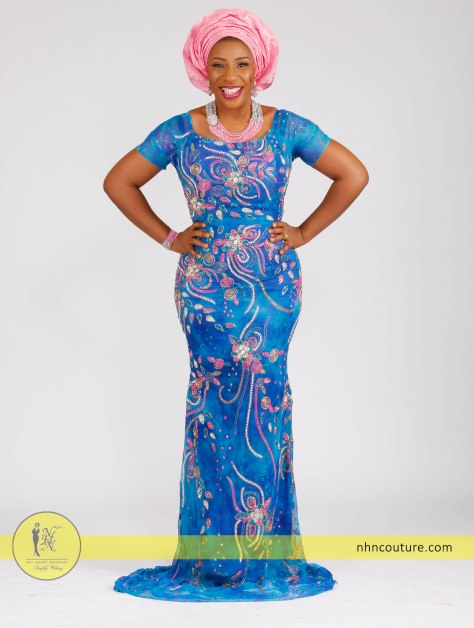 blue-hand-stitched-pearls-sequined-fitted-top-and-wrapper_Nigerian-traditional-attire_asoebi_NHN-Couture_1