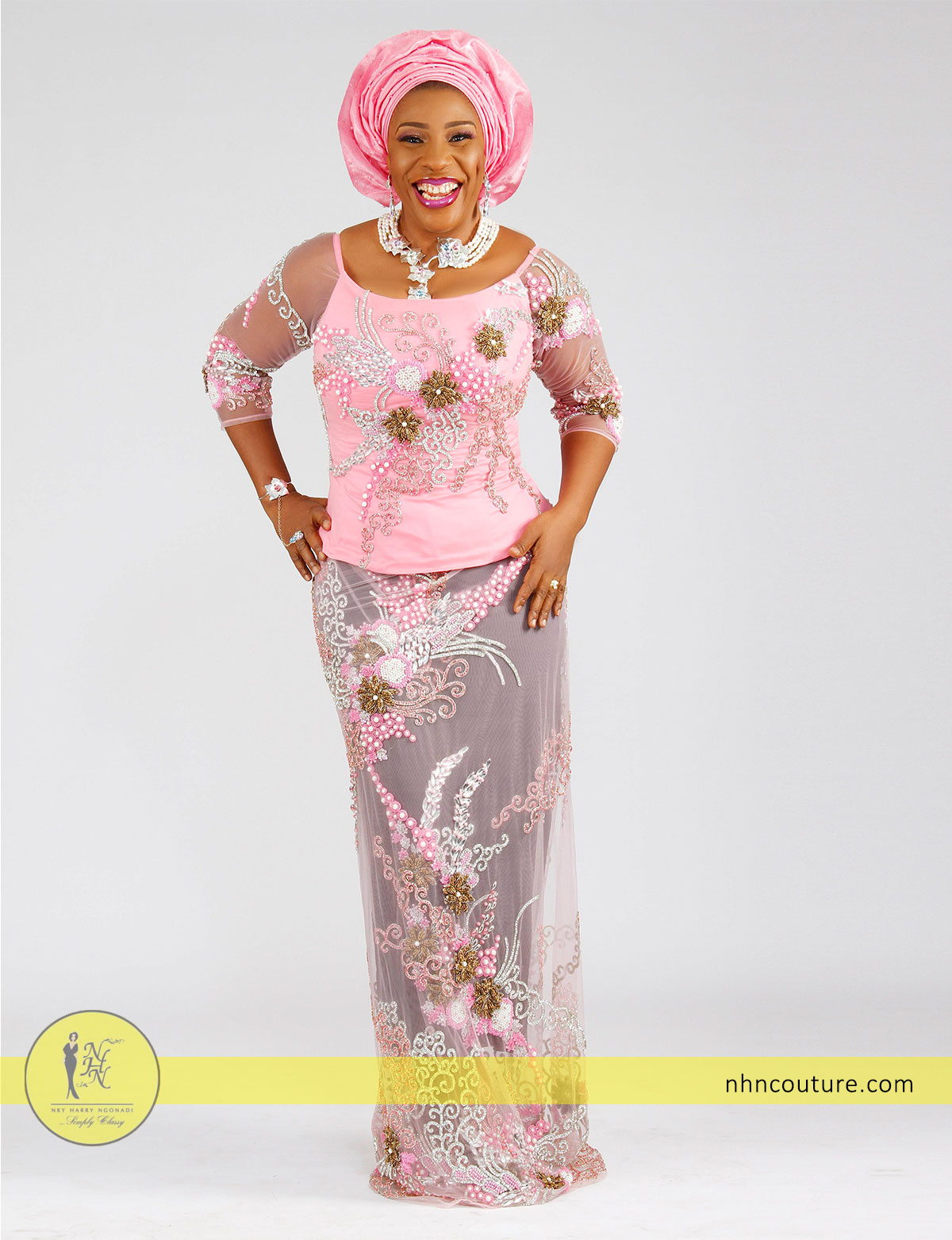 pink-sequined-fitted-top-and-wrapper_Nigerian-traditional-attire_asoebi_NHN-Couture_1