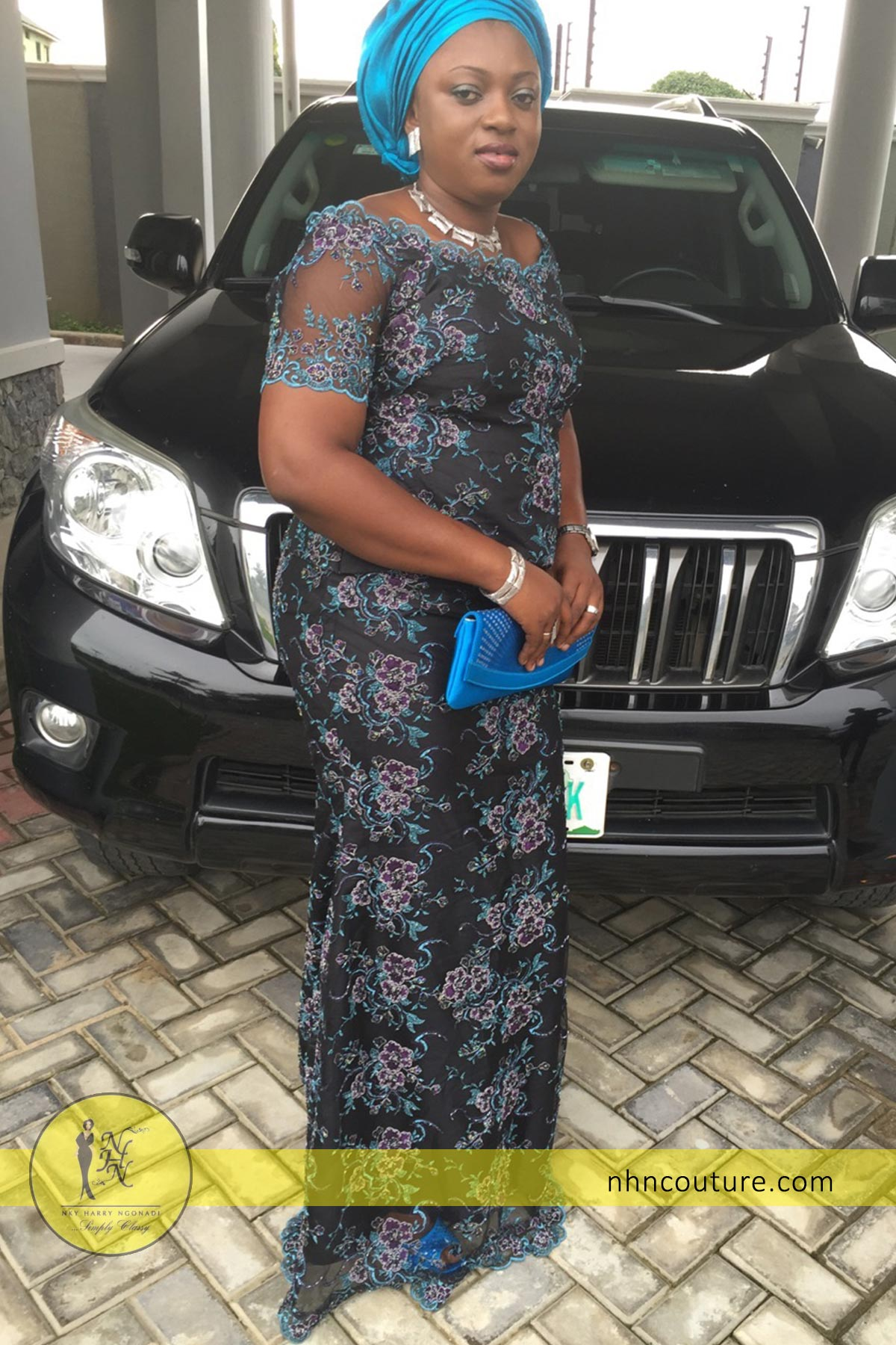 spotted-in-NHN-Couture_Blue-Lace_top-and-skirt_Asoebi_Nigerian-Traditional-Attire