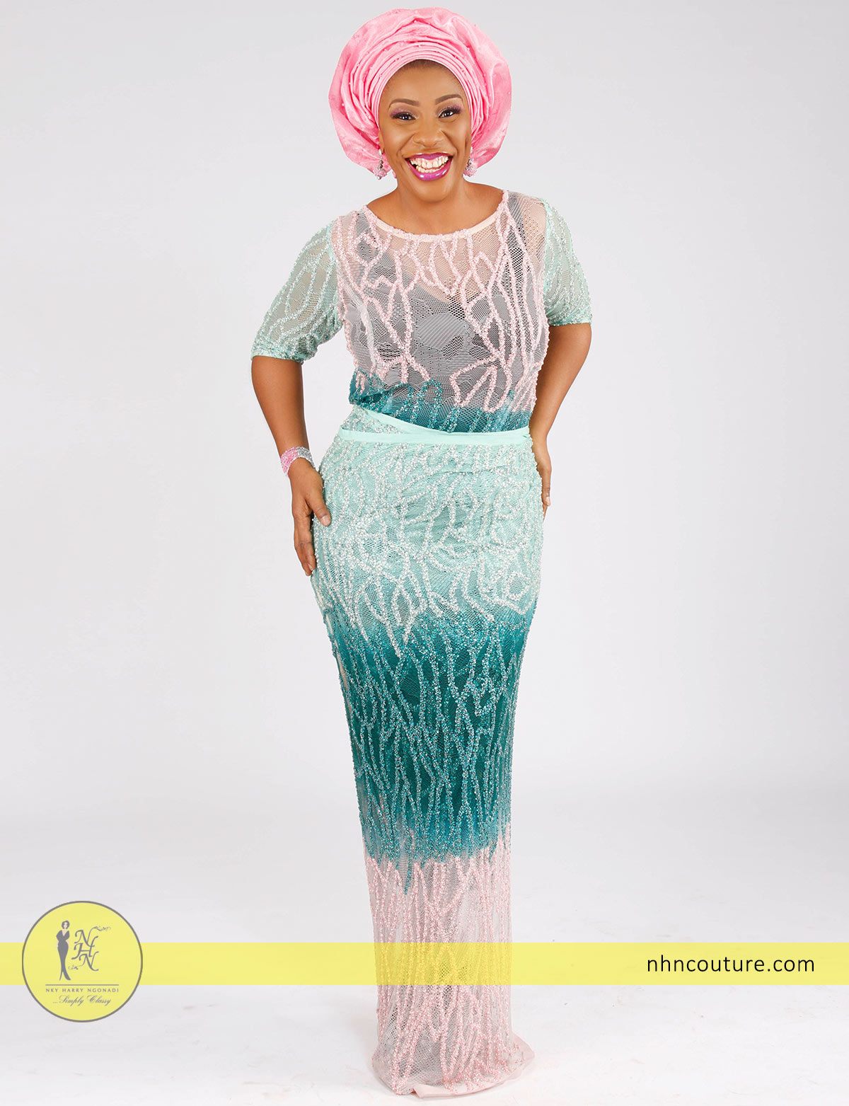 teal-and-pink-sequined-fitted-top-and-wrapper_Nigerian-traditional-attire_asoebi_NHN-Couture_4