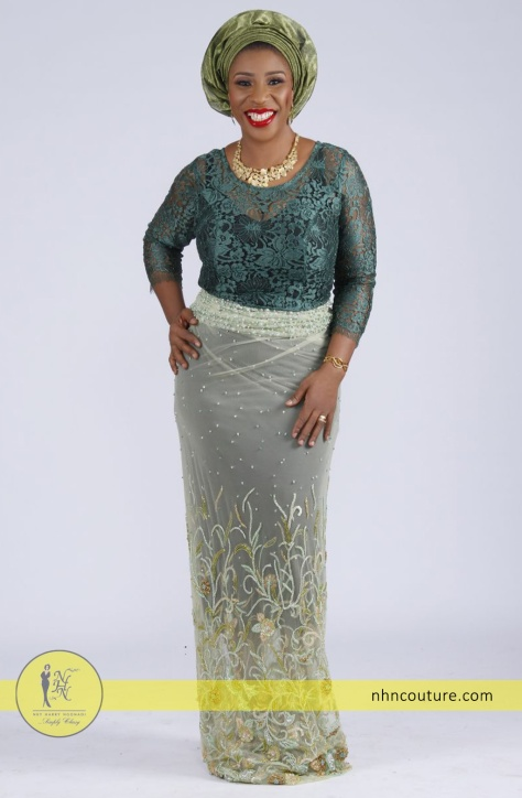 NHN-Couture_fitted-top-and-wrapper_green-lace-top-and-hand-beader-on-tulle-wrapper