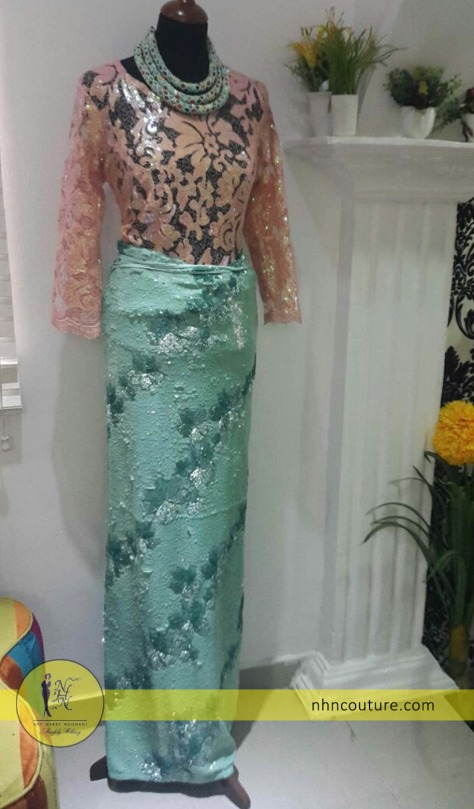 ready-to-wear_fitted-top-and-wrapper_peach-and-mint-green_NHN-Couture
