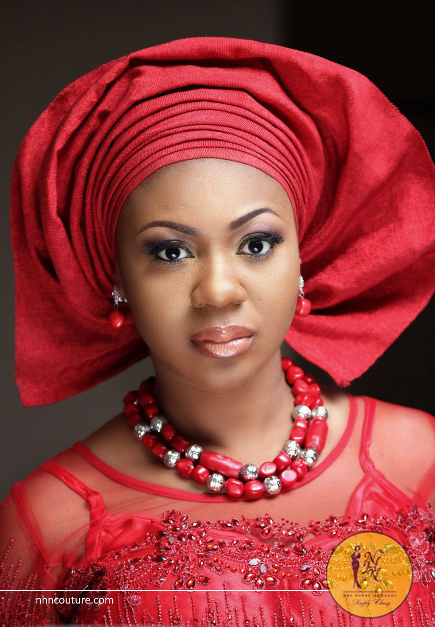 Spotted-in-NHN_red-gele_single-tone-red-fitted-top-and-wrapper